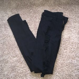 Express Ripped Black Skinny Jeans